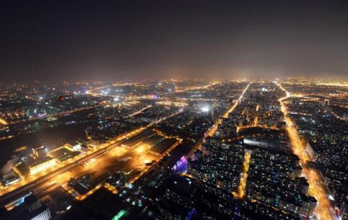 除夕夜北京航拍